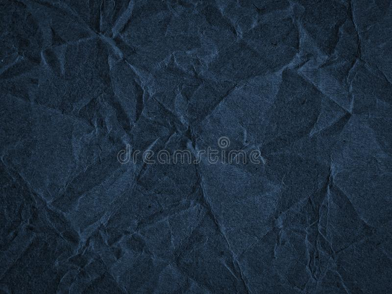 Texture of crumpled craft paper. Abstract background stock photo