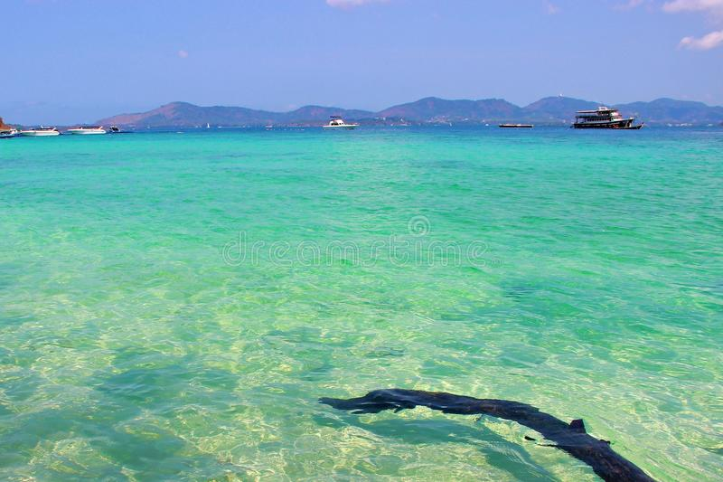 Texture of crystal clear water stock photo