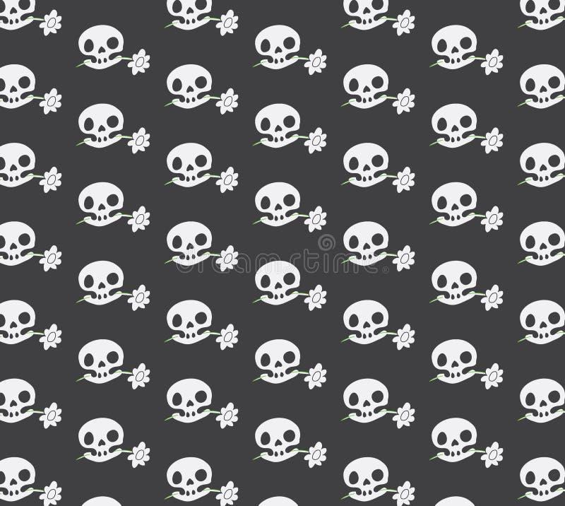 Texture Cute skull stock image