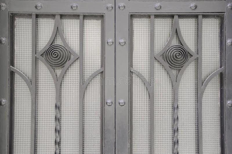 Texture décorative de fond de porte en métal image stock