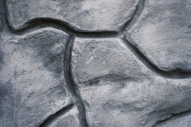 Texture décorative géométrique de modèle sur le mur en béton de ciment photographie stock libre de droits