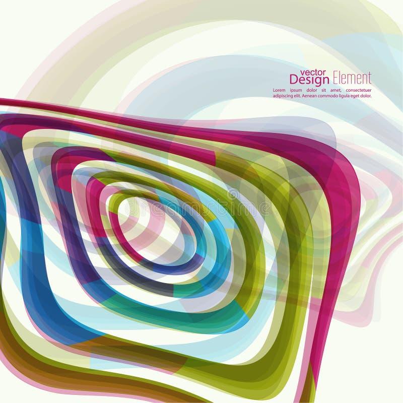 Texture déformée de torsion de la géométrie illustration libre de droits