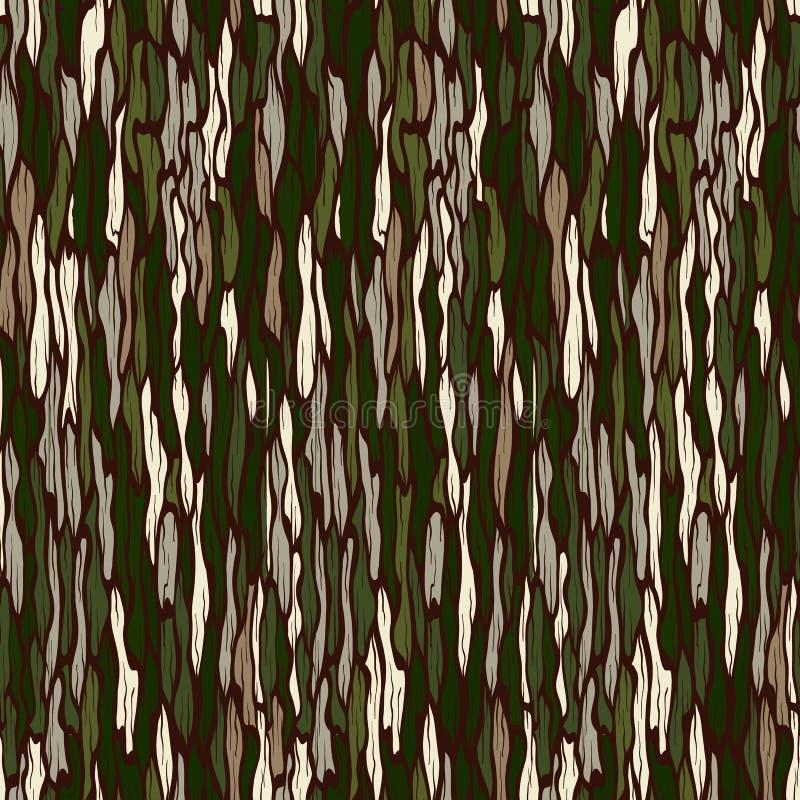Texture d'écorce d'arbre. Fond sans couture de vecteur. illustration libre de droits