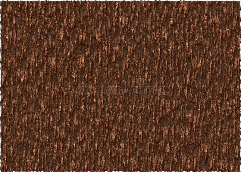 Texture d'écorce de Brown illustration de vecteur