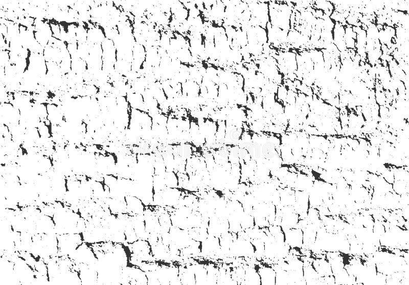 Texture d'écorce Fond en bois grunge Recouvrement affligé de vecteur illustration de vecteur