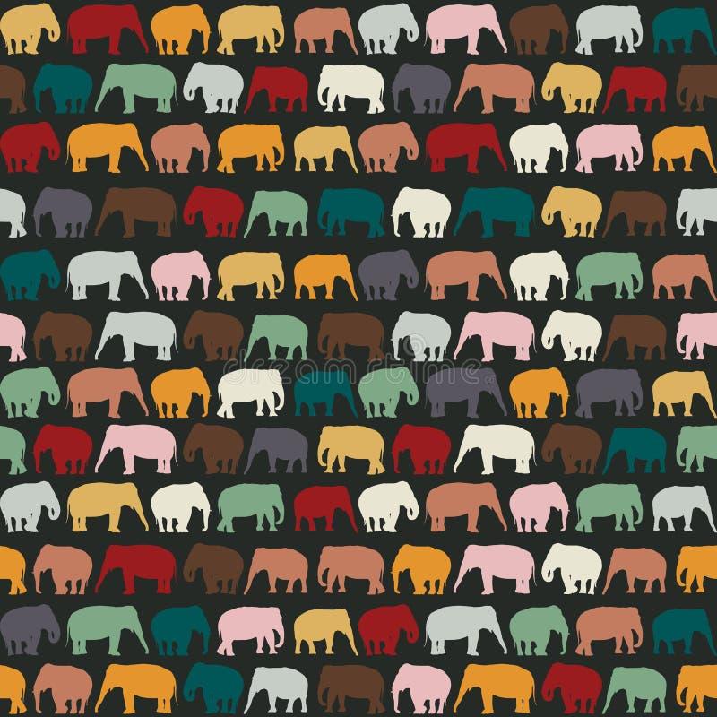 Texture d'éléphants illustration stock