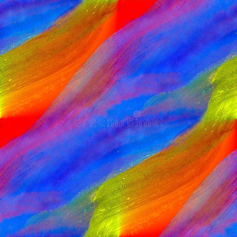 Texture d'aquarelle peignant le jaune de rouge bleu images stock