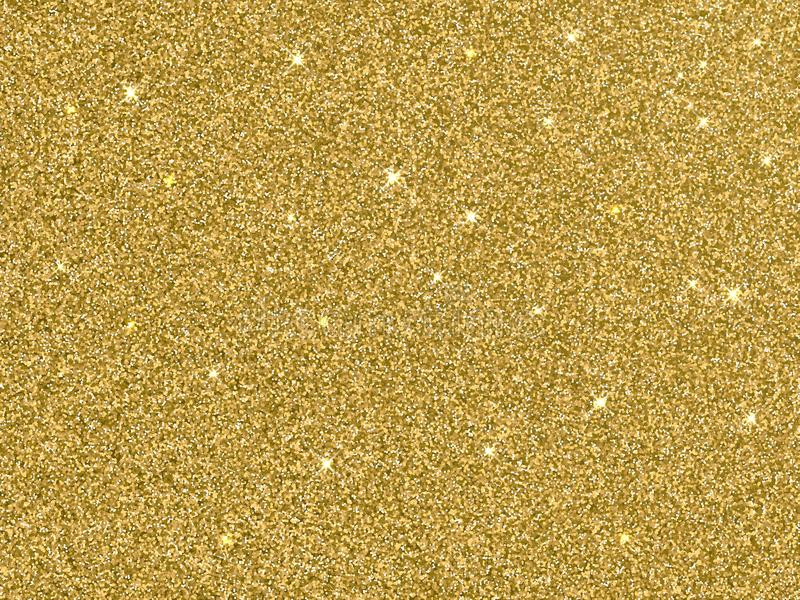 Texture d'or de fond de scintillement d'or de vecteur illustration stock