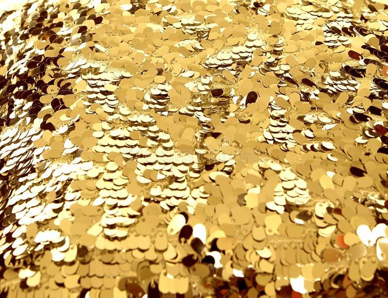 Texture d'or de paillette, fond photographie stock