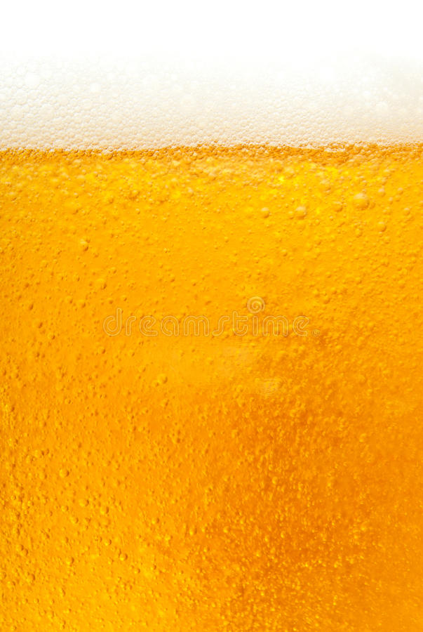 Texture d'or fraîche de bière photos libres de droits