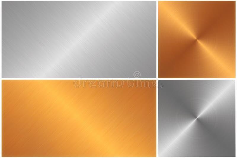 Texture d'illustration en métal illustration libre de droits