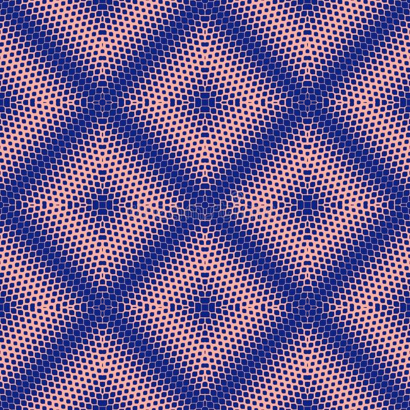 Texture d'image tram?e de vecteur Modèle sans couture géométrique lumineux de bleu et de rose illustration libre de droits