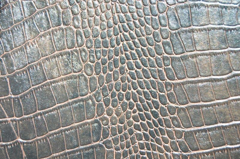 Texture d'imitation de peau de crocodile de Brown photos stock