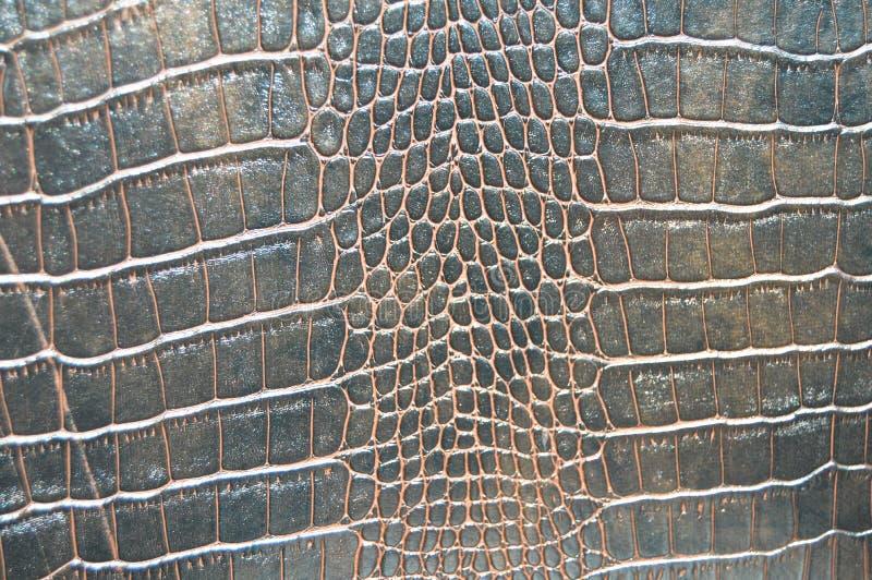 Texture d'imitation de peau de crocodile de Brown image libre de droits
