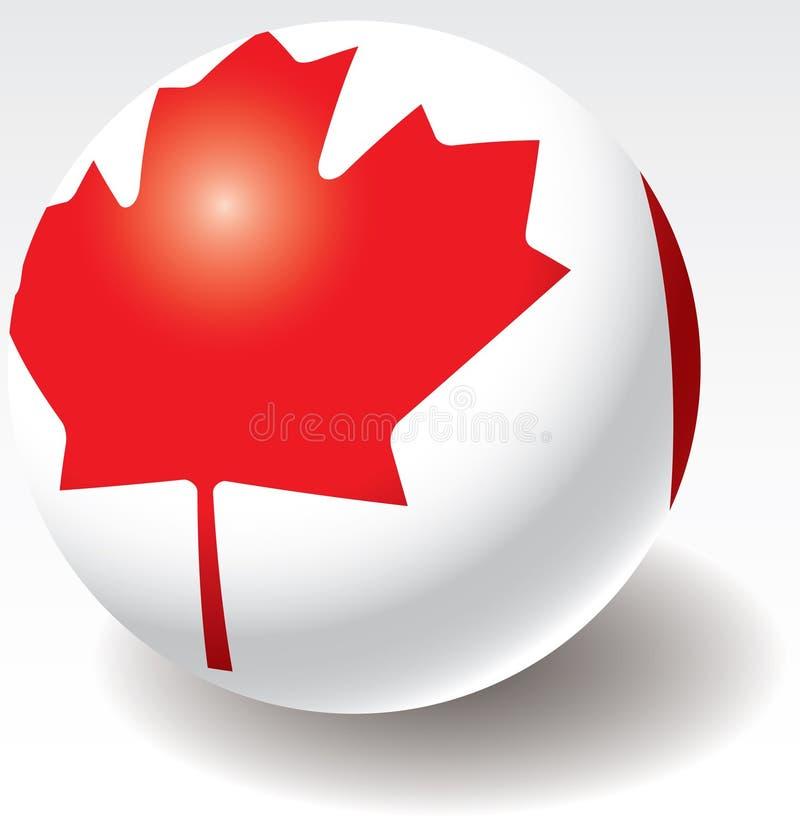 Texture d'indicateur du Canada sur la bille. illustration de vecteur