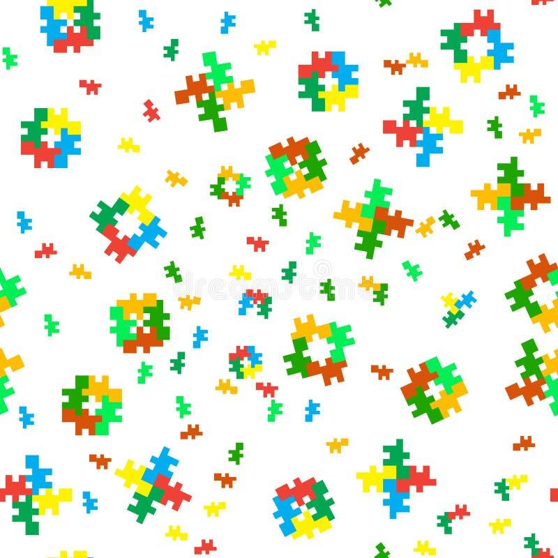 Texture d'octet sans joint de couleur illustration libre de droits