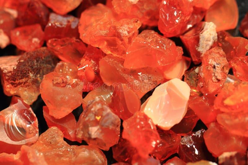 Texture d'opale de feu rouge photographie stock
