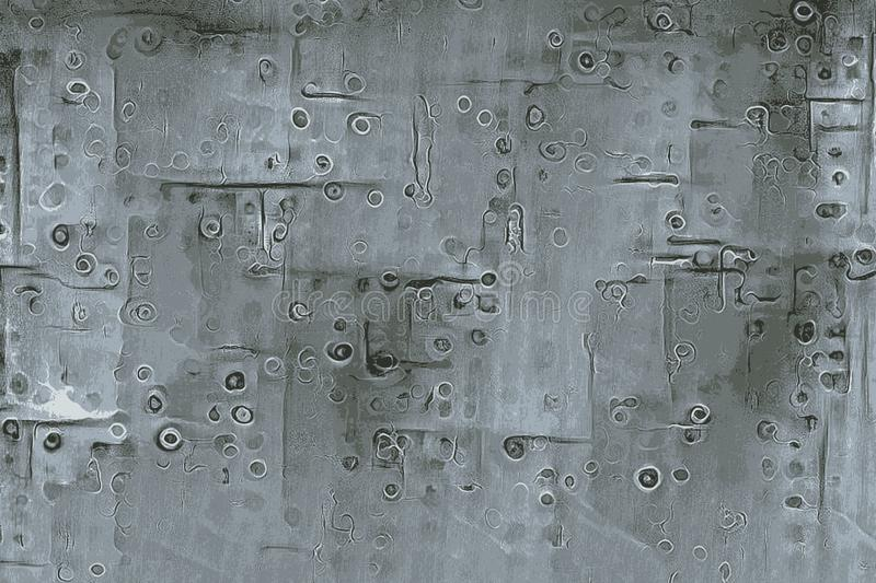 Texture d'un avion avec des rivets et des vis et des plaques de métal photographie stock