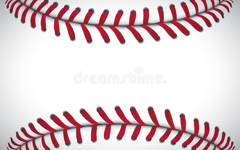 Texture d'un base-ball, fond de sport, illustration de vecteur illustration stock