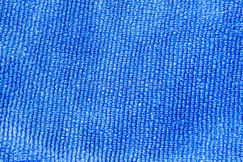 Texture d'un fond bleu de tissu images libres de droits