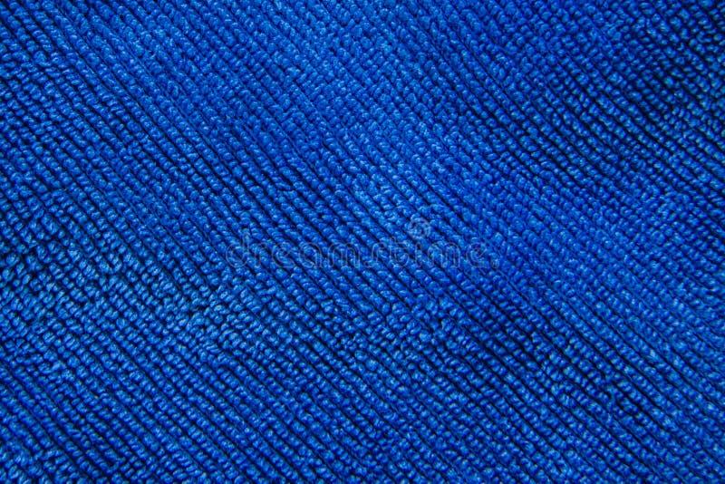 Texture d'un fond bleu de tissu image stock