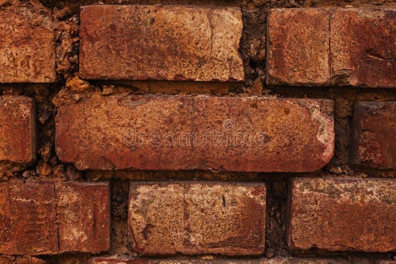 Texture d'un vieux mur de briques photographie stock