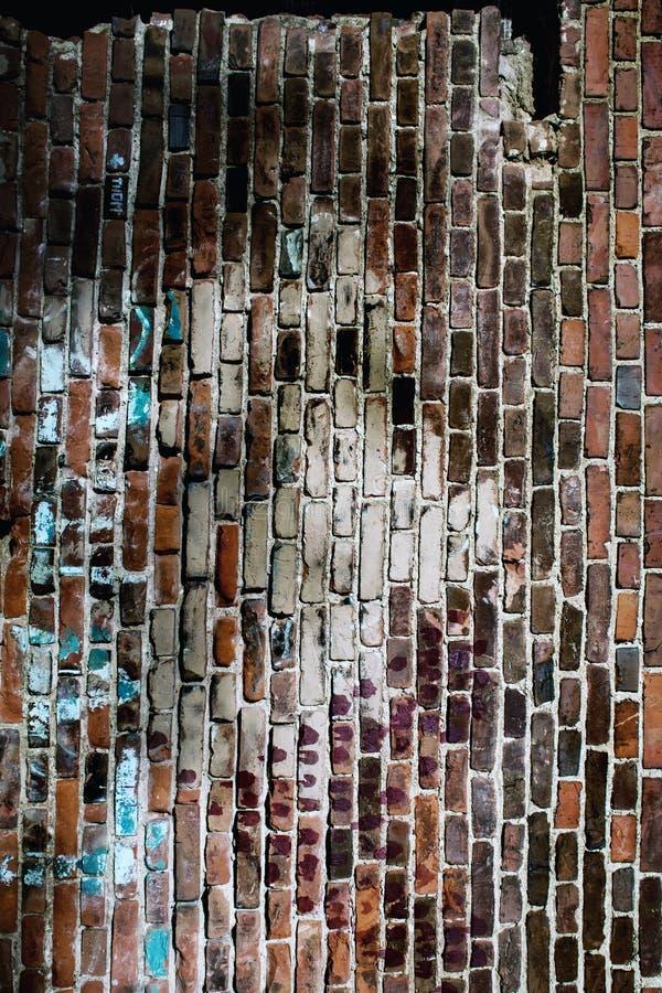 Texture d'un vieux mur de briques rouge images libres de droits