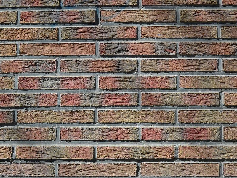 Texture d'une brique teintée multicolore décorative d'imitation de stuc images stock