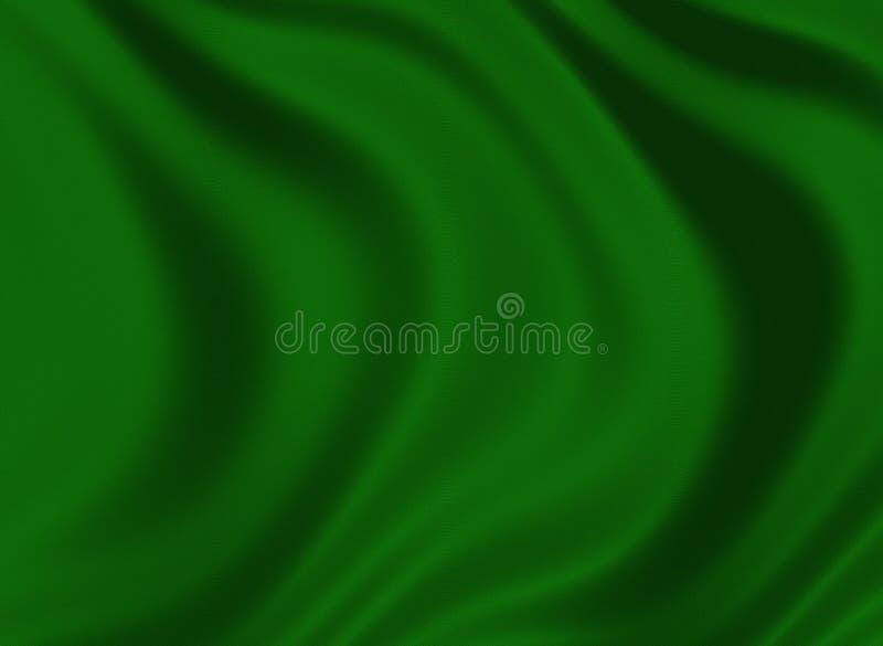 Texture d'une soie vert-foncé illustration de vecteur