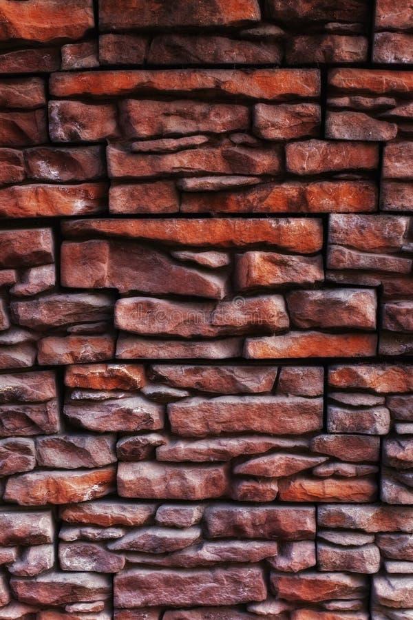 Texture d'une vieille fin de mur de briques vers le haut photos libres de droits