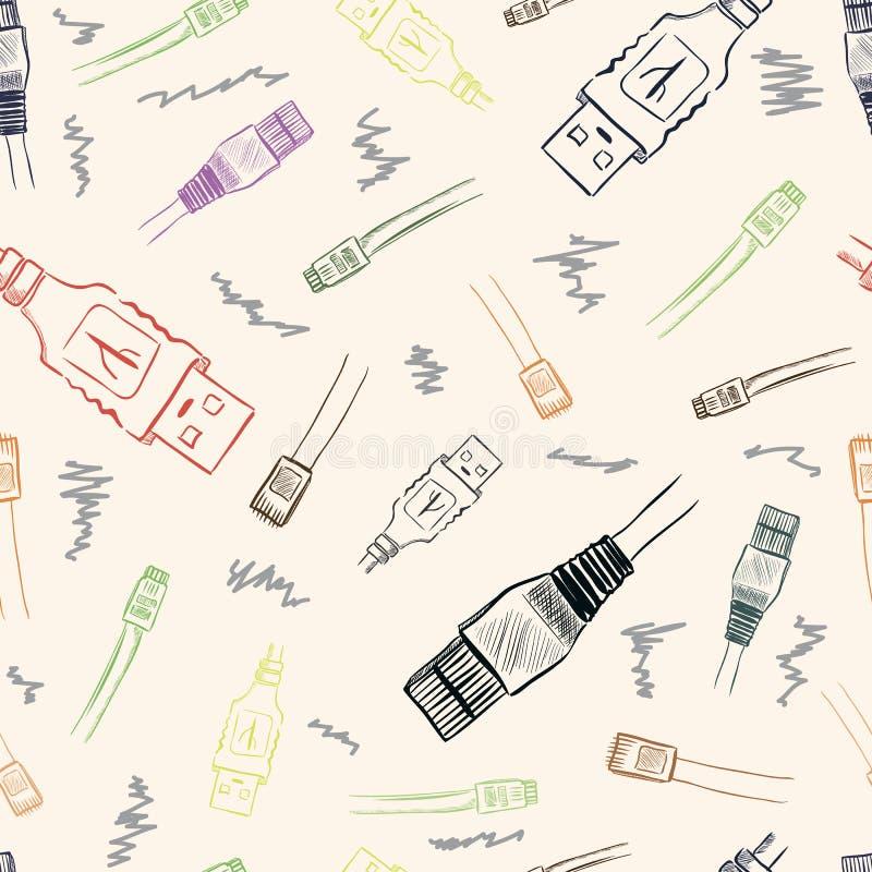 Texture d'USB illustration libre de droits