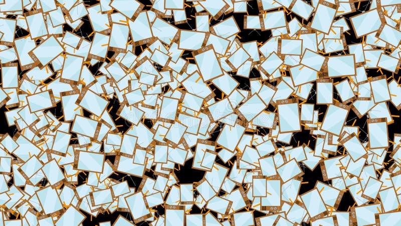 Texture da tela convexa sem emenda do tubo do vintage do moderno do teste padrão a tevê antiga que olha o fundo dos programas 60s imagens de stock