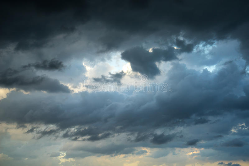 Texture of dark storm clouds.  stock photography
