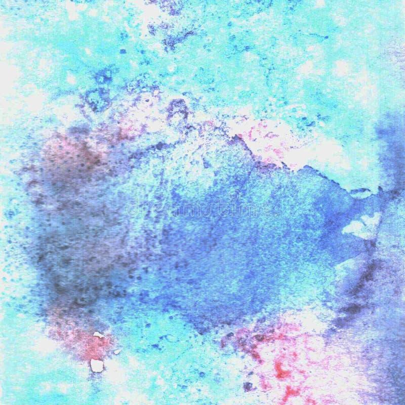 Texture de bleu d'aquarelle illustration de vecteur