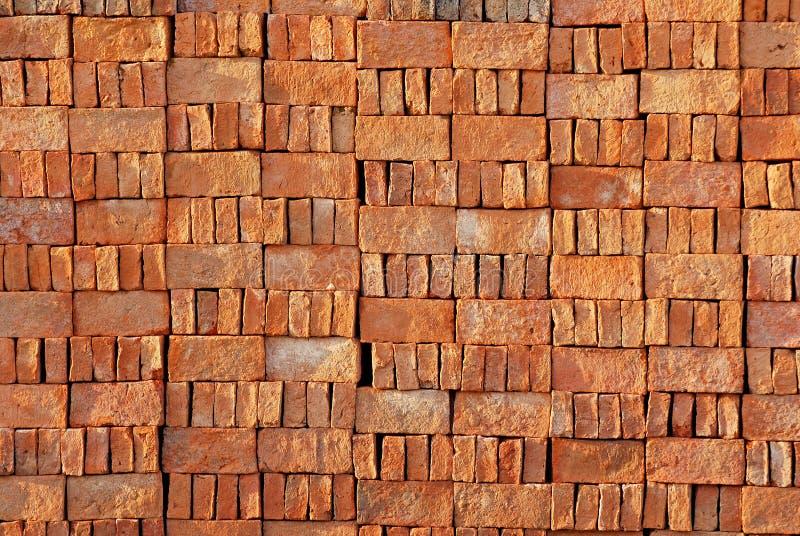 Texture de bloc de brique rouge images libres de droits