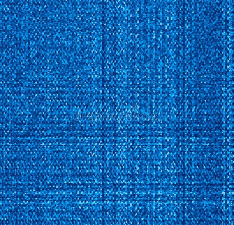 Texture de blues-jean de vecteur Modèle abstrait de triangles illustration de vecteur