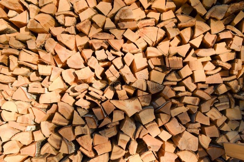 Texture de bois de chauffage Fond en bois de bois de charpente de Brown Texture en bois de vintage de vieux mur Bois texturisé et images libres de droits