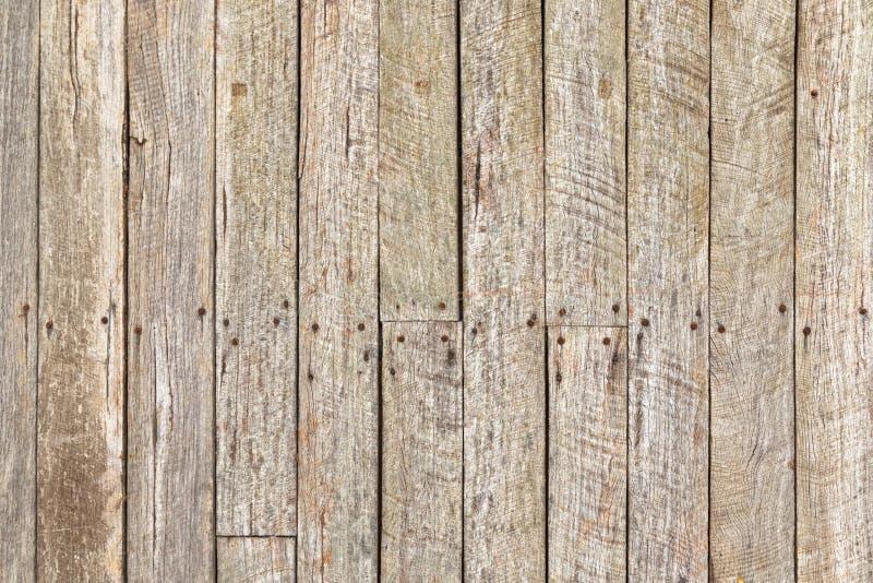 Texture de bois superficiel par les agents rustique de grange avec les clous rouillés image stock
