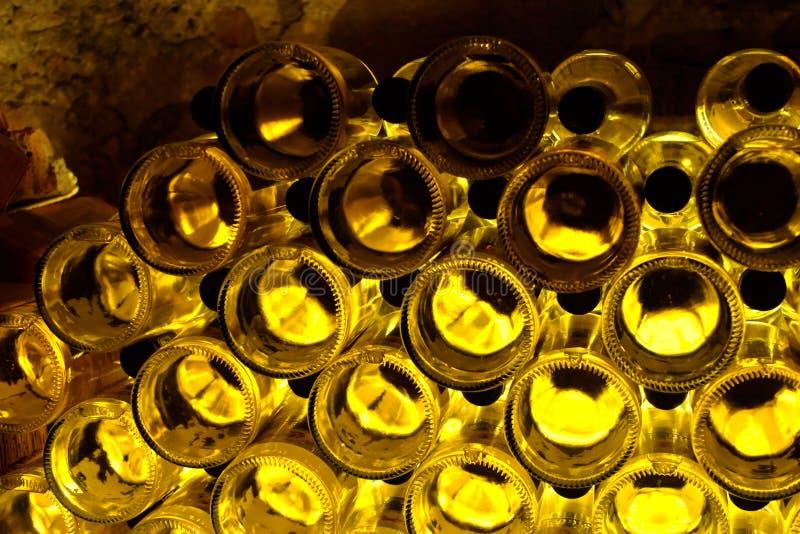 Texture de bouteilles de vin photo libre de droits