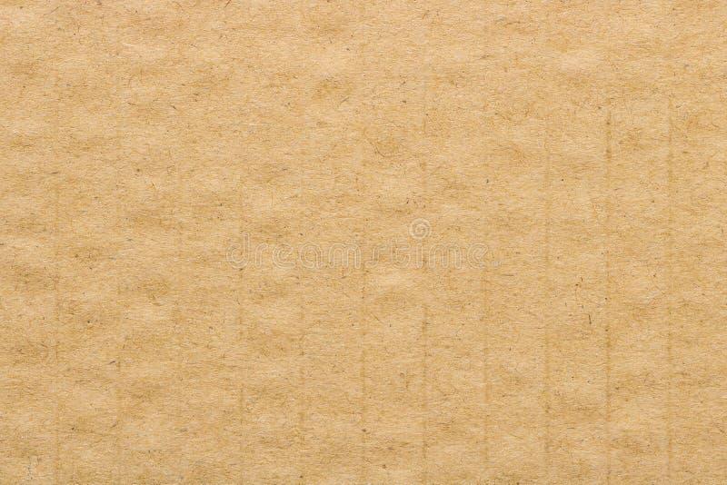 Texture de carton de Brown, fond de boîte de papier photographie stock libre de droits