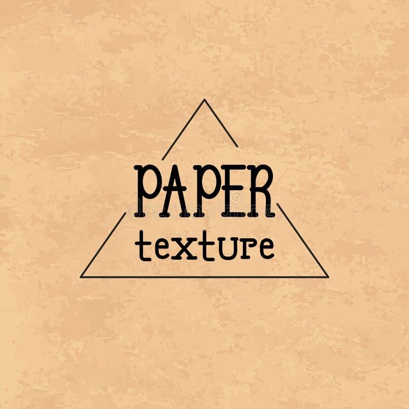 Texture de carton de papier de Brown Texture de vecteur pour des travaux de conception illustration libre de droits
