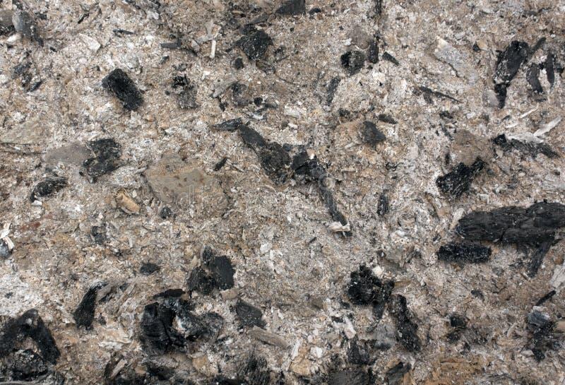 Texture de cendre grise et noire photographie stock libre de droits