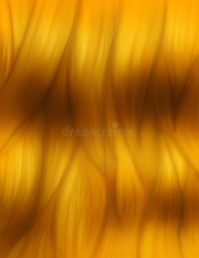 Texture de cheveux de miel illustration stock