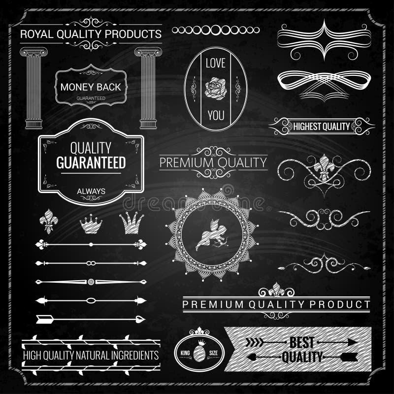 Texture de craie d'éléments de conception illustration stock