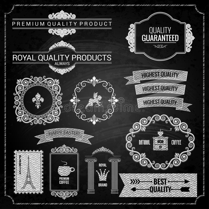 Texture de craie d'éléments de conception illustration libre de droits