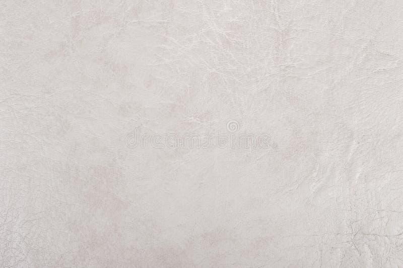 Texture de cuir blanc photo stock