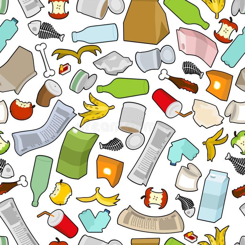 Texture de déchets Modèle sans couture de déchets ornement de déchets litte illustration libre de droits