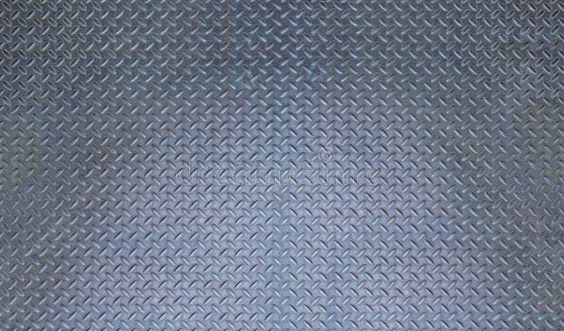 Texture de Diamant-plat de Grey Metal avec la teinte bleue image stock