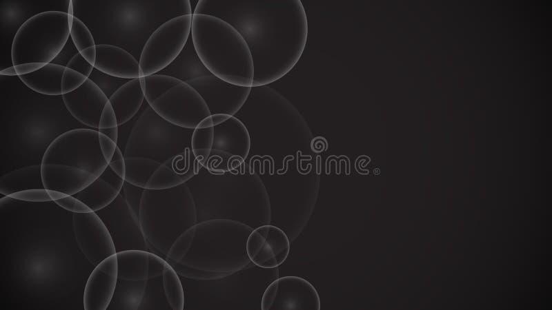 Texture de différentes belles bulles lumineuses bien aérées de lumière ronde transparente unique abstraite transparente, un chame illustration de vecteur