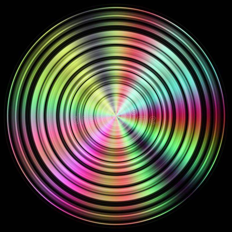 Texture de disque avec plus de couleur illustration de vecteur